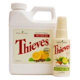 Thieves Essential Oil Fruit and Veggie Wash Bundle (Soak & Spray)