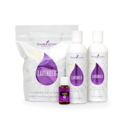 Lavender Mint Natural Essential Oil Shampoo and Conditioner Gift Set